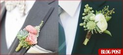 3 Trendy Wedding Boutonnieres