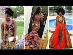 Girls Who Slayed Wearing African Print Prom Dresses | LOOKBOOK – OccasionsTv.com