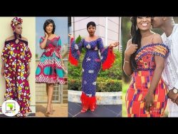 Latest African Print Dresses: New Ankara, Kente Short and Long Awesome African Print Dresses  ...